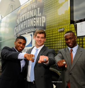 Nosa and Philip national championship ring
